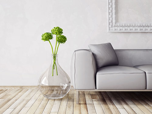 modern couch and vase furniture set